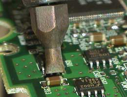 Soldering, Ceramic Capacitors, Photo